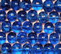 Dark Sapphire 6mm Round Crackle Glass Beads