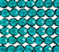 8mm Teal Fire Polished Faceted Round