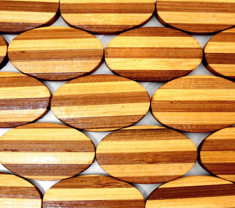 Bamboo Laminated Oval - Two Tone