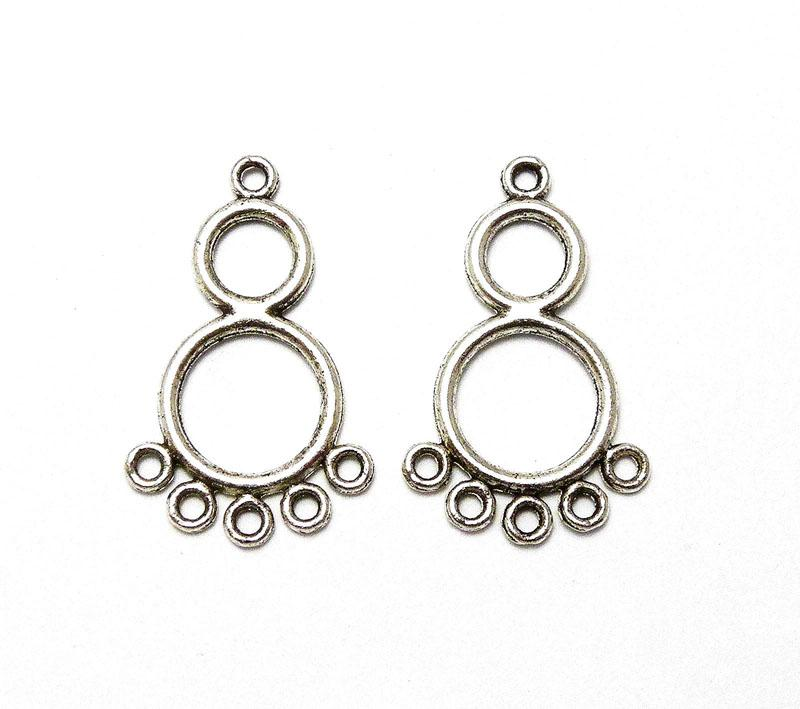 Figure 8 Earring Chandelier - Antique Silver