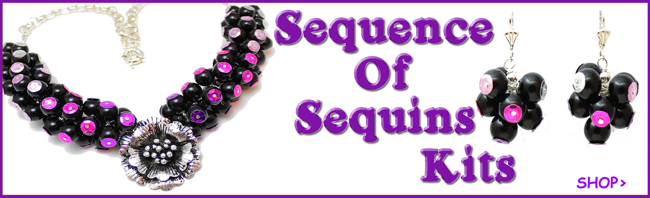 Sequence of Sequins Necklace and earring Kits available