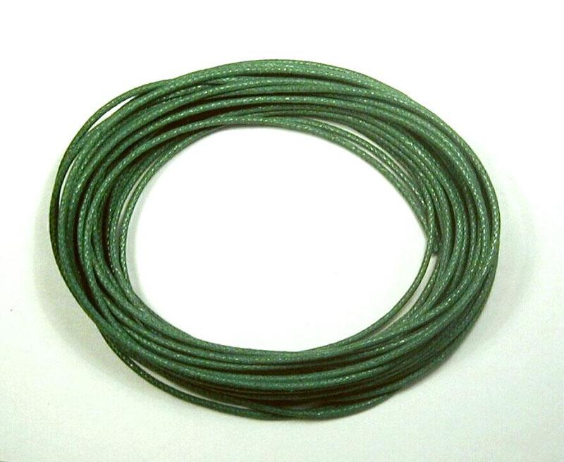 Waxed Cotton Cord 1mm - Emerald Green