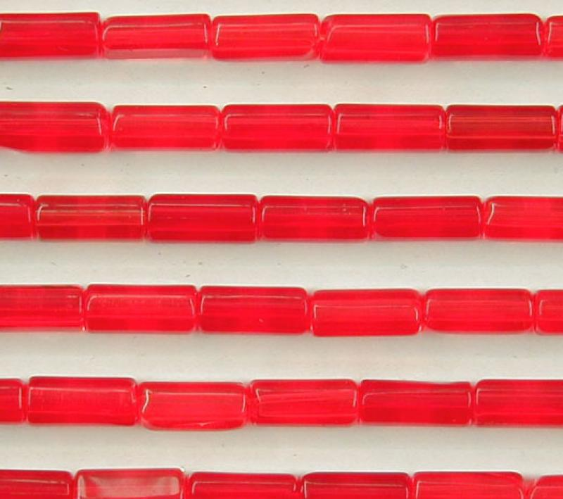 Bright Red Glass Tubes