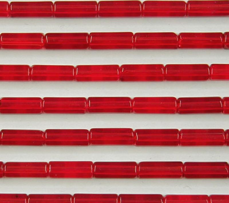 Red Glass Tubes