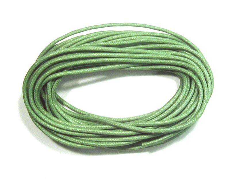 Waxed Cotton Cord 2mm - Light Green