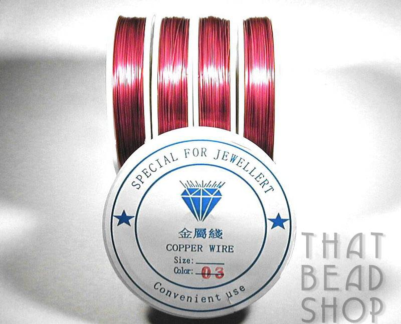 Cherry Colour Coated Craft Wire 0.3mm