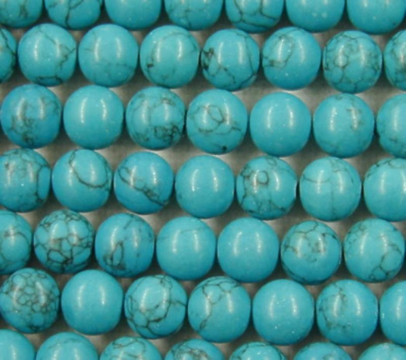 Turquoise Howlite 6mm round