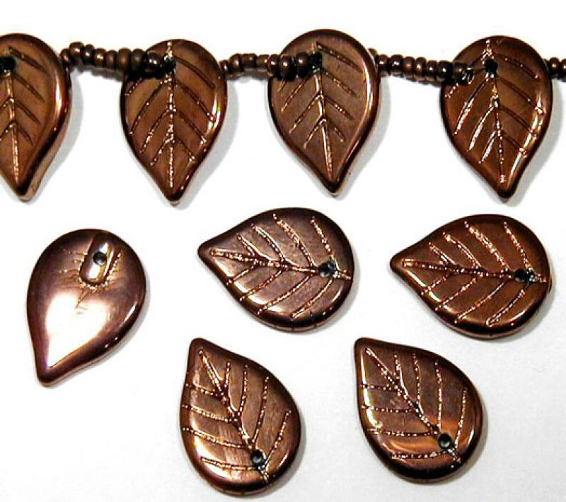 Copper Metallic Glass Leaves