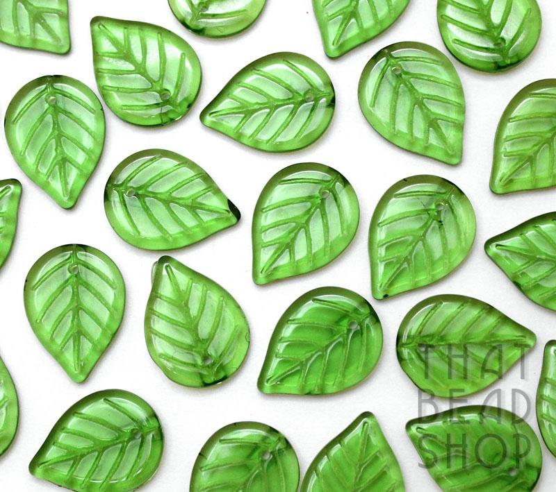 Grass Green Glass Leaves