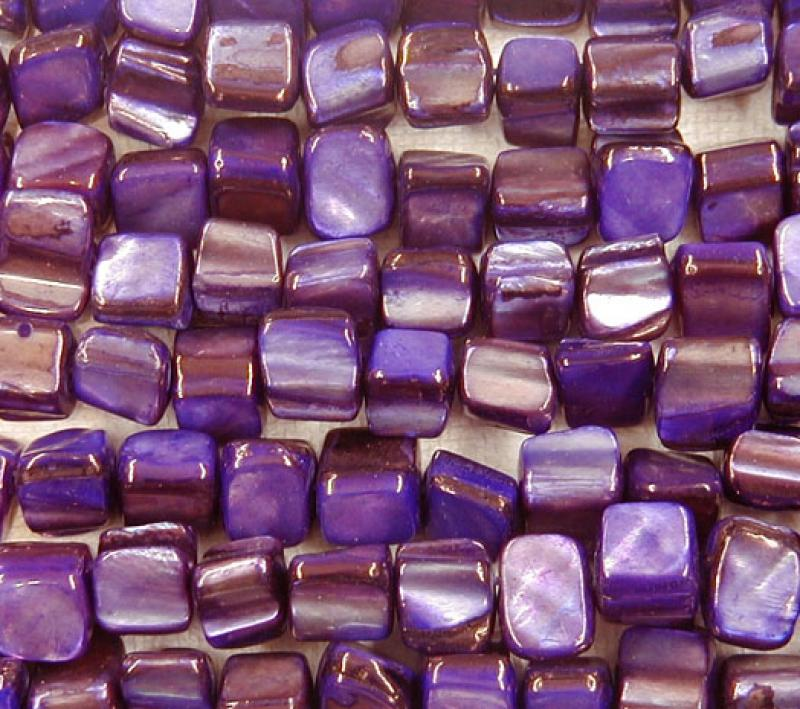 Purple Rough Cut Square MOP Shell