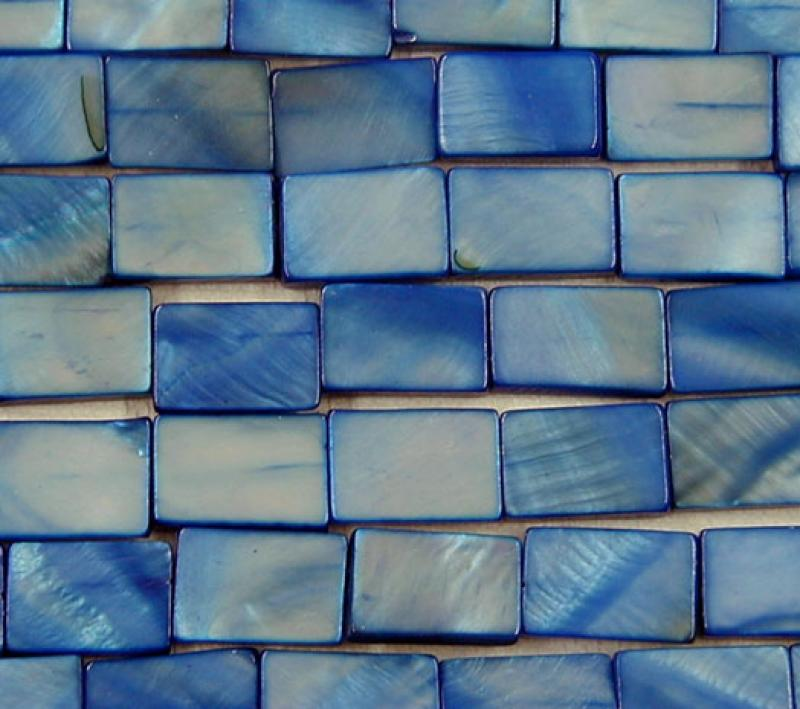 Blue MOP Shell Rectangle