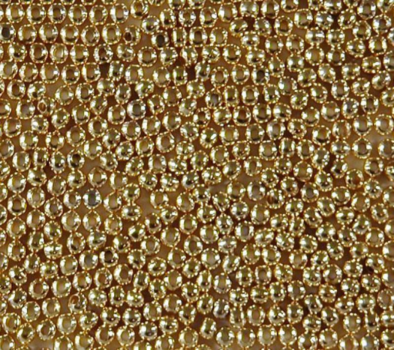 2.5mm Round Metal Bead - Gold Plated