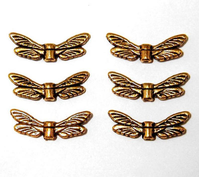 Gold Dragonfly Wing Spacer