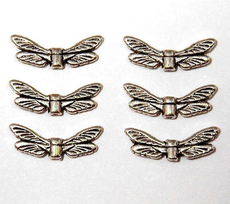 Silver Dragonfly Wing Spacer
