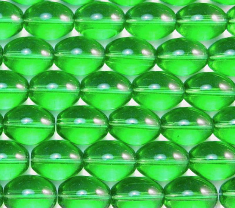 Green Glass Oval