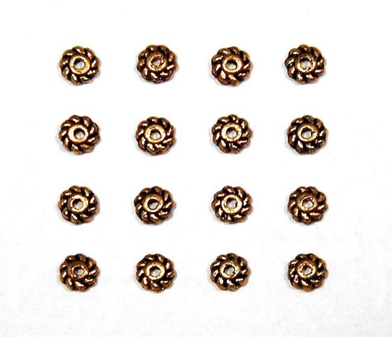 Gold 4mm Mini Rope Spacer Bead