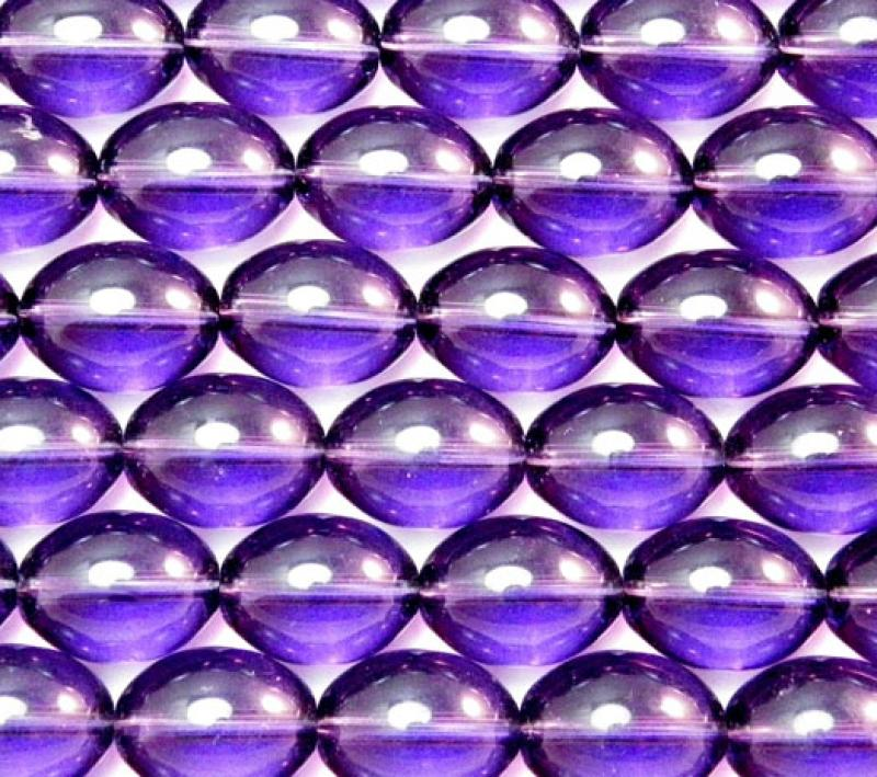 Purple Glass Oval
