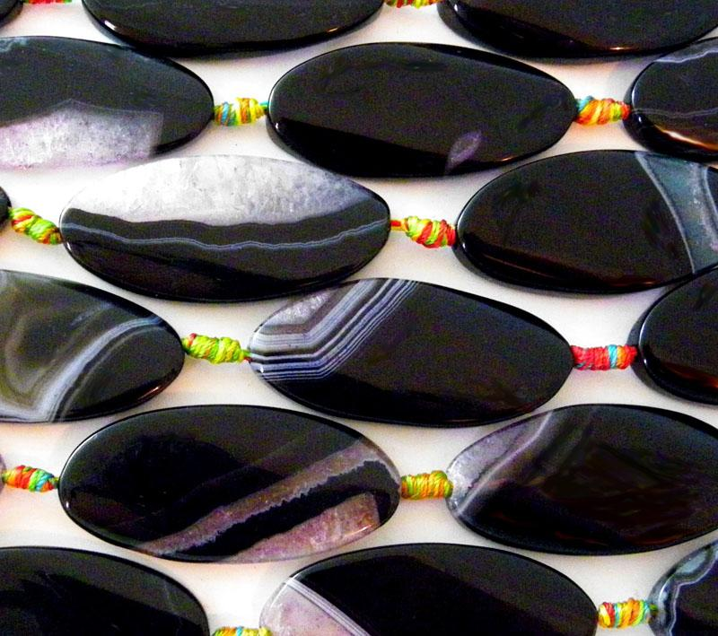 Black & White Ice Agate Ovals