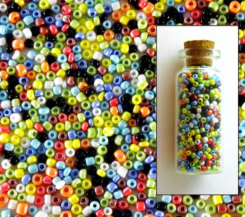 Opaque Lustered Mixed Size 11-0 Seed Beads