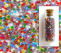 Transparent Frosted Mixed Size 11-0 Seed Beads