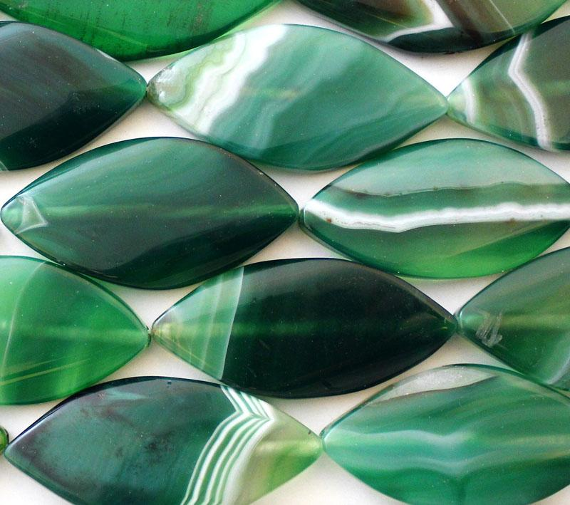Green Banded Agate Ovals