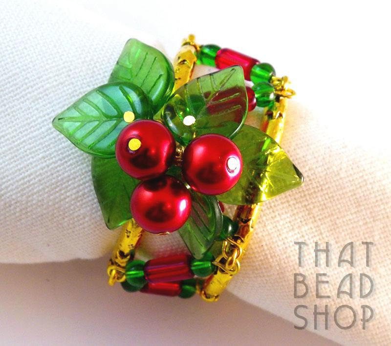Christmas Napkin Rings - Set of 4
