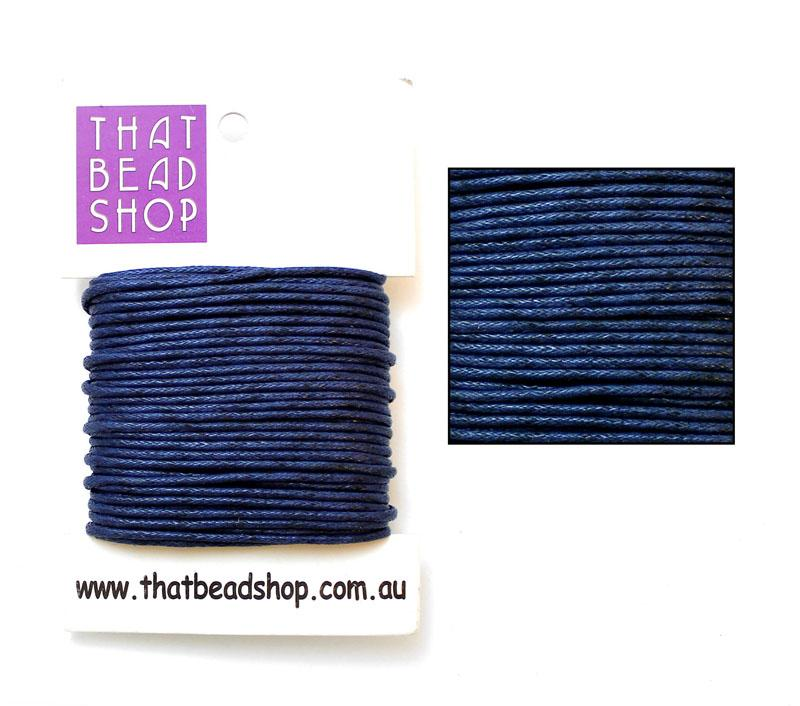 2mm Waxed Cotton Cord - Navy