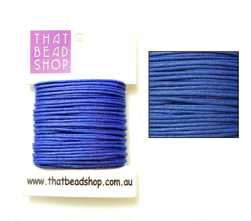 2mm Waxed Cotton Cord - Sapphire