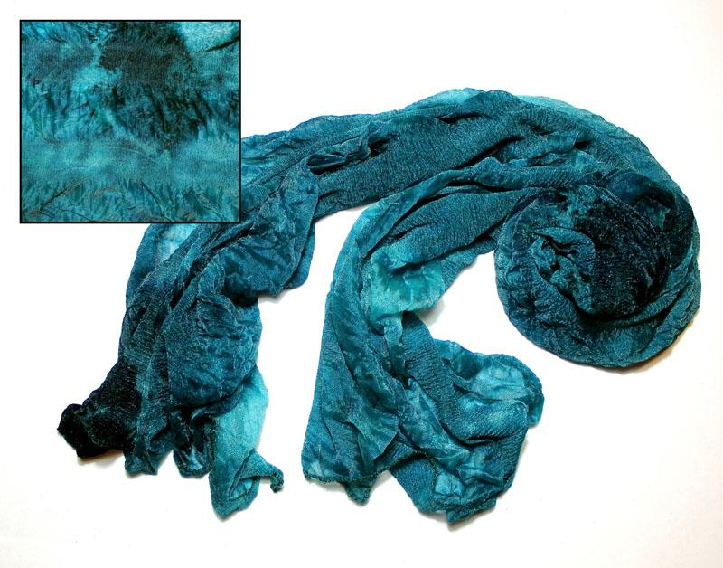 Teal Surprise Silky Knit Scarf