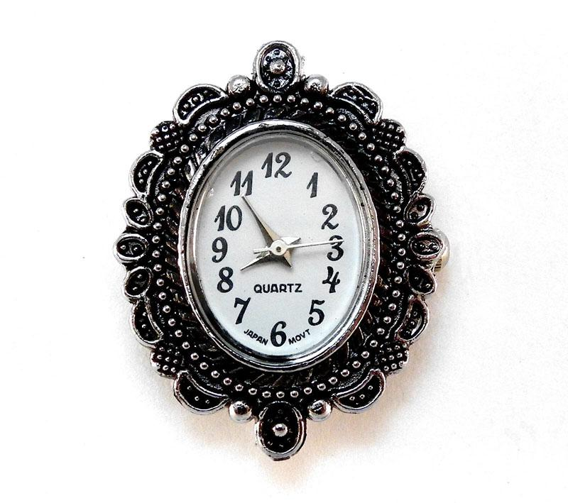 Antique Silver Oval Victorian Style Watch Face