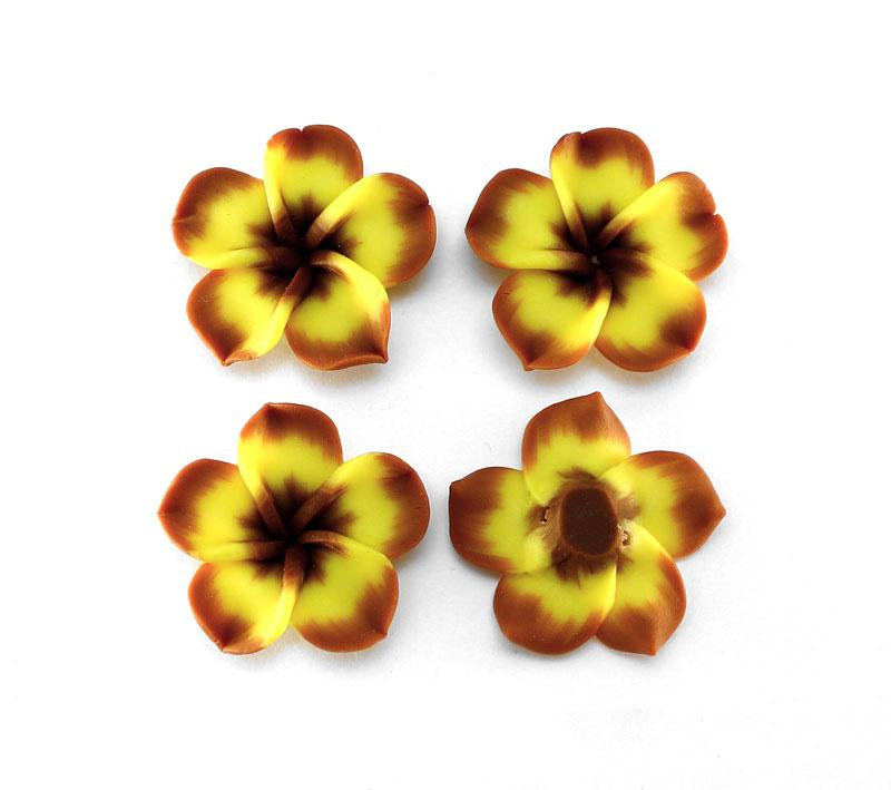Burnt Orange & Yellow Frangipani - 2 pack