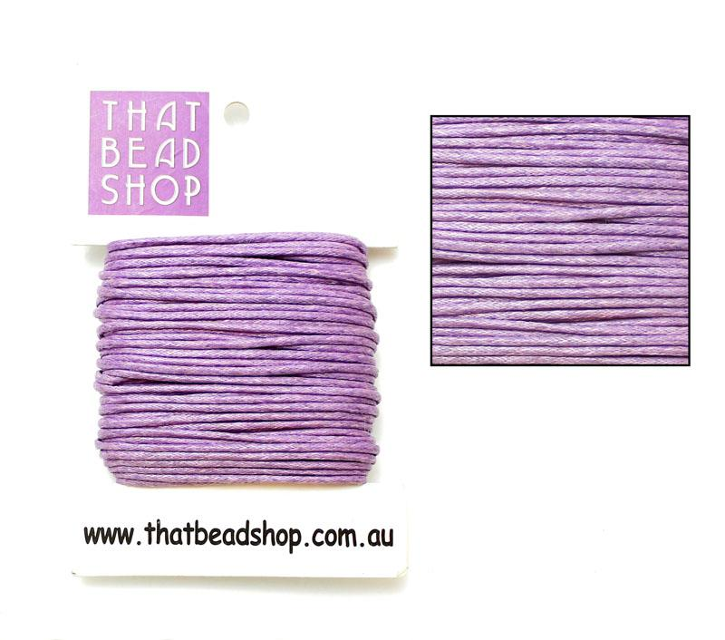 2mm Waxed Cotton Cord - Lavender
