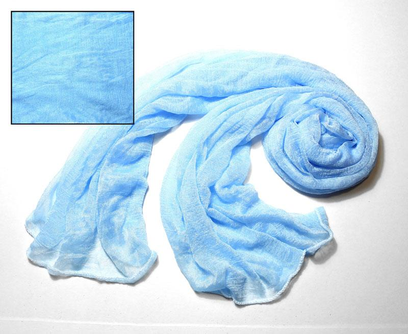 Light Blue Silky Knit Scarf