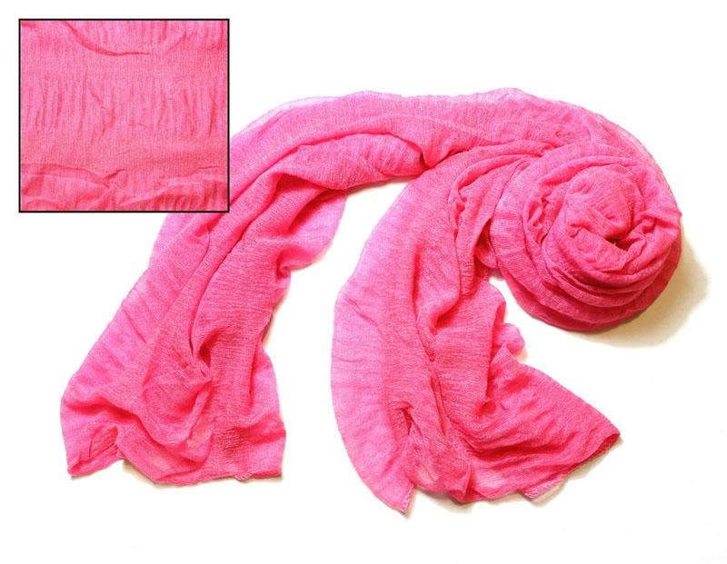 Pink Silky Knit Scarf