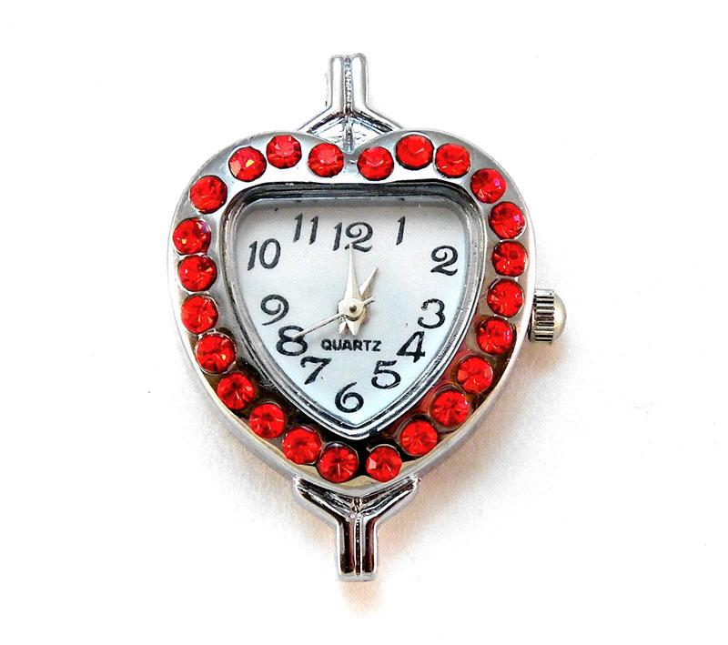 Inventory watch faces red rhinestone heart shaped watch face aloadofball Gallery