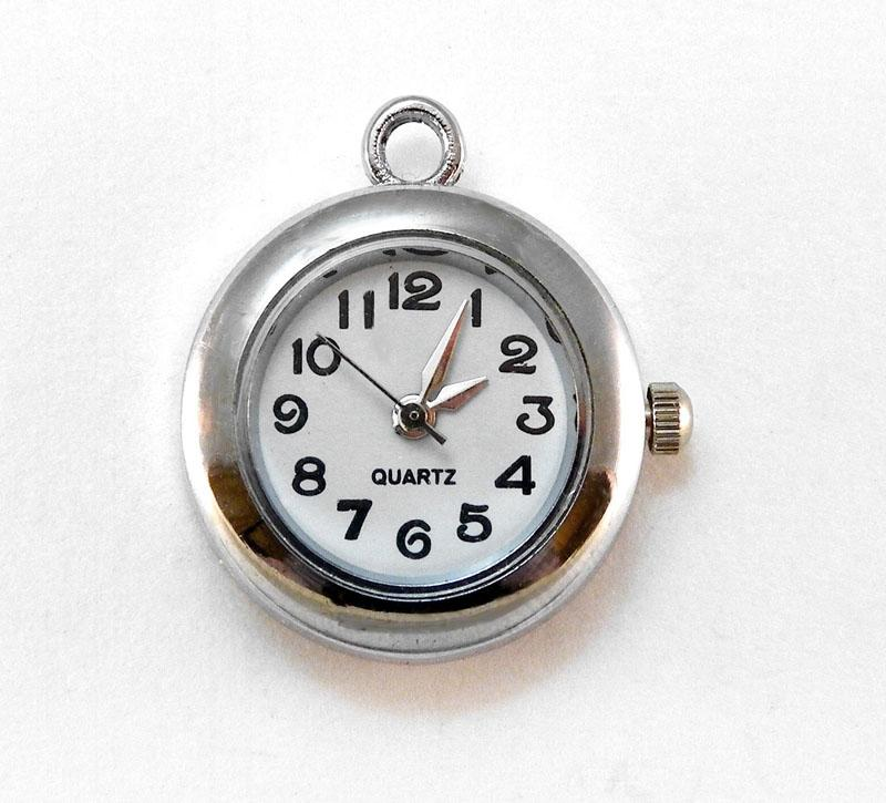 Inventory watch faces antique silver round watch face pendant charm aloadofball Gallery