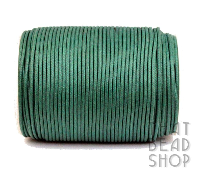 2mm Forest Green Waxed Cotton Cord 100m Roll