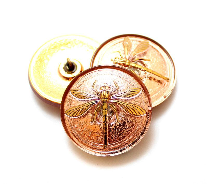 31mm Dragonfly Button - Copper Button