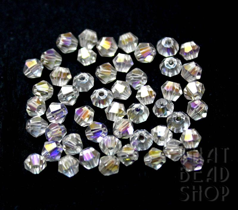 4mm Clear AB Crystal Bicone