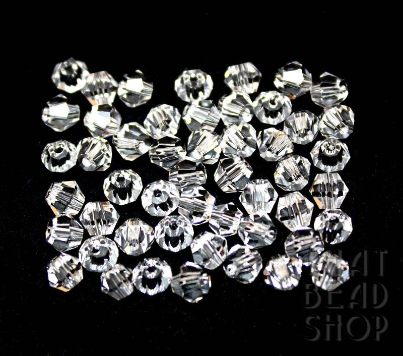 4mm Clear Crystal Bicone
