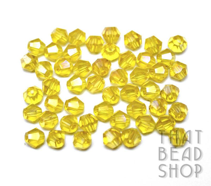 4mm Jonquil AB Crystal Bicone