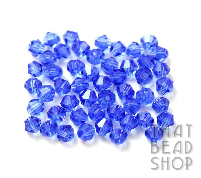 4mm Sapphire Crystal Bicone