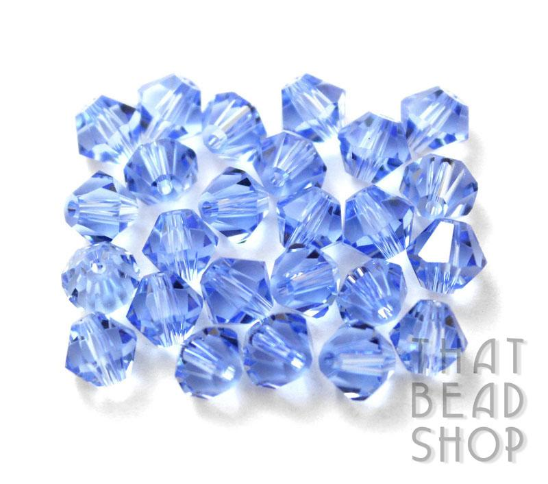 6mm Blue Crystal Bicone