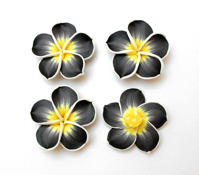 Black & Charcoal Frangipani - 2 pack