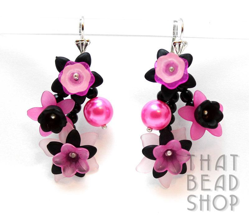Frosted Floral Earring Kit