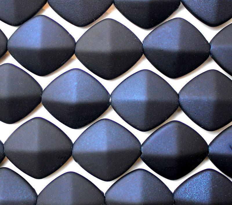 Navy Rubber Coated Flat Diamond
