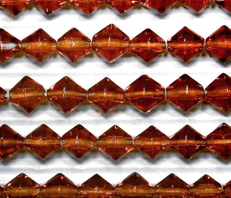Warm Brown 8mm Glass Bicone - 4 Strand Pack