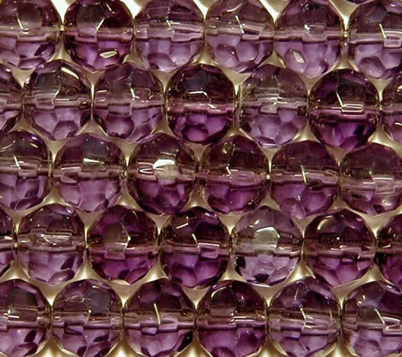 Dark Purple 8mm Faceted Round Glass Beads