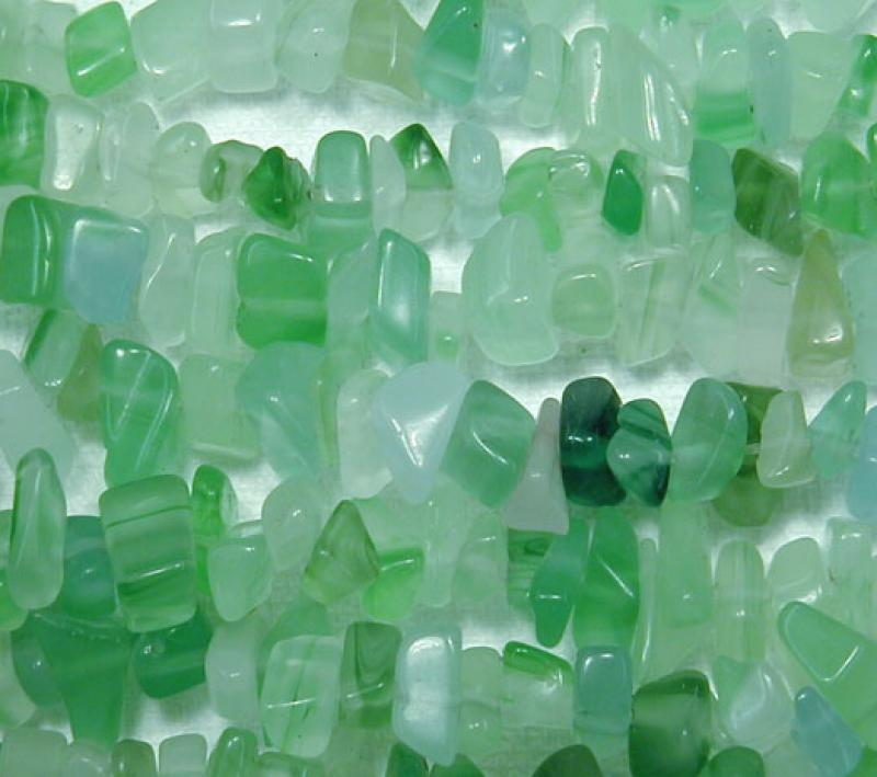 Green Agate Gemstone Chips