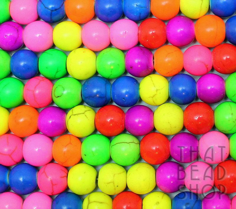 Bright n Fluoro 8mm Magnesite Coloured Round